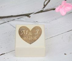 Ring Bearer Box Wedding Ring Box Rustic Vintage by SimplyCosyMBA