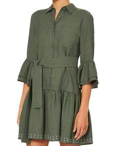 Shop the Derek Lam 10 Crosby Grommet Hem Flounced Shirtdress & other designer styles at IntermixOnline.com. Free shipping +$150.