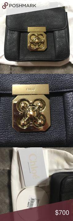 Chloe Elsie bag Like New Chloe mini Elsie bag black with gold accents Chloe Bags Mini Bags
