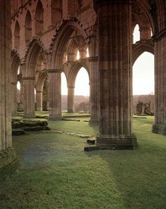Rievaulx Abbey in Great Britain.  So beautiful it makes me want to weep.