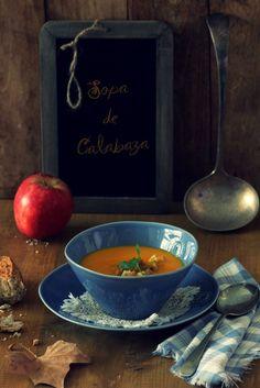 Pumpkin cream soup (sopa de calabaza)