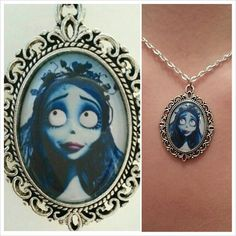 The Corpse Bride Cameo Pendant Necklace by TheHalloweenQueen, $7.50