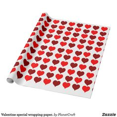 Get this beautiful red and brown hearts design valentine wrapping paper. For your love. This beautiful red and brown heart pattern will look awesome with any valentine day gift.