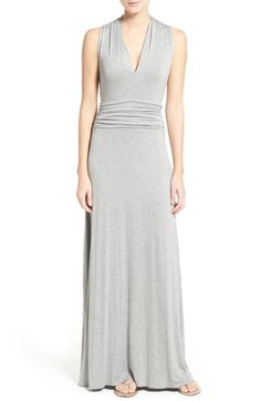 Vince Camuto V-Neck Maxi Dress (Regular & Petite) available at #Nordstrom