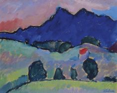 Alexej von Jawlensky - Blue Mountain...another inspiration for embroidery, Sue Dove style