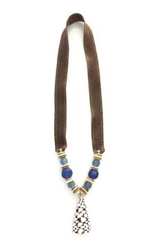 twine & twig tones shell in sea blue