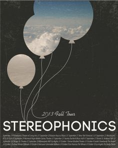 Stereophonics Fall Tour Poster by Corina Rosca http://www.behance.net/gallery/Stereophonics-Fall-Tour-Poster/10771115