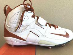 7e8990afa39 Nike Air Zoom Boss Men s Size 13 D Football Cleats Burnt Orange Shoes Texas  New