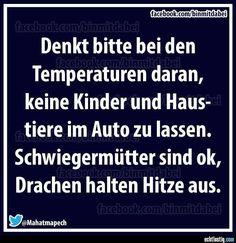 Schwiegermütter bei Hitze im Auto lassen