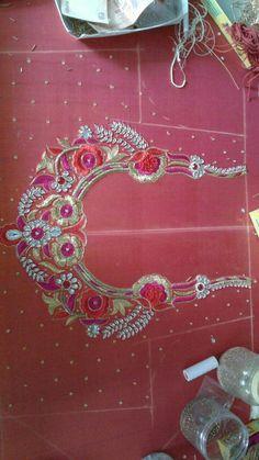 For Order pls whatsapp 7659830951 Wedding Saree Blouse Designs, Best Blouse Designs, Aari Work Blouse, Kids Frocks Design, Frock Design, Hand Designs, Sleeve Designs, Crochet Designs, Embroidery Designs