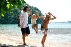 Australian family at the beach
