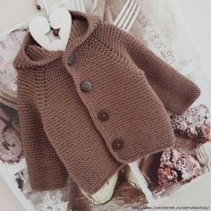 Knitting For Kids, Baby Knitting, Crochet Baby, Knitted Baby Cardigan, Knit Baby Sweaters, Baby Bootees, Sweater Jacket, Crochet Clothes, Cable Knit