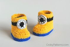 Minion Inspired Baby Booties