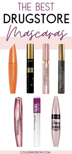 Best Drugstore Mascara, Drugstore Skincare, Drugstore Foundation, Makeup Basket, Beste Mascara, Makeup Bag Essentials, Best Makeup Products, Beauty Products, Hair Products