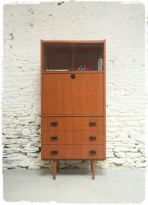 Enfilade Scandinave En Teck Massif Vintage Des Annees 50 Meuble Deco Mobilier De Salon Mobilier