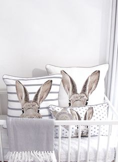 A bunny nursery could be fun for your new baby! If you're looking for a nursery look that is fun & unique, see our bunny nursery decor and inspiration! Bunny Room, Bunny Nursery, Girl Nursery, Nursery Decor, Peter Rabbit, Rabbit Baby, Baby Bedroom, Project Nursery, Deco Design