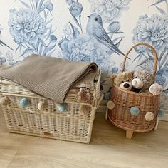 Wiklibox wicker chest in ECRU (creamy) color with pompoms - 60 cm in category Toys Baskets Toy Basket, Granny Flat, Handicraft, Wicker, Baskets, Handmade Items, Toys, Color, Craft
