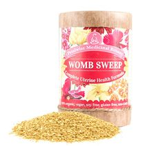 Womb Sweep Botanical Formula for Complete Uterine Health. Helps alleviate pain and menstrual irregularity often experienced by women suffering with: Fibroids, Ovarian Cysts and Endometriosis.  $36.