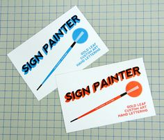 68 best awesome business cards images on pinterest branding design sign painter colourmoves
