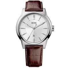 Ρολόγια : Ρολόι Boss Classic Brown Leather Strap - 1512912