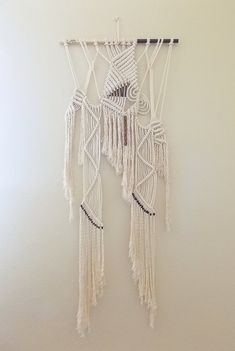 "RESERVED for B, Macrame Wall Hanging ""Stargazer"" by HIMO ART, One of a kind Handcrafted Macrame, rope art"