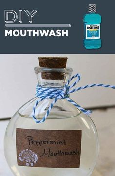 DIY Mouthwash Peppermint Herbal Mouthwash c. aloe vera juice (like this) c. water 1 tsp witch hazel (like this) 1 tsp baking soda 10 drops peppermint essential oil Homemade Beauty Products, Diy Cleaning Products, Household Products, Diy Products, Household Items, Natural Products, Homemade Mouthwash, Ideias Diy, Beauty Recipe
