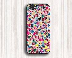 colorful  triangle glass iphone 5c cases iPhone 5 5s by Emmajins, $9.99