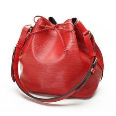 0f33087fede7 Louis Vuitton Petit Noe Epi Shoulder bags Red Leather M44107 Red Handbag