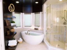 Master bathroom, contemporary, custom cabinetry by D2D Studio