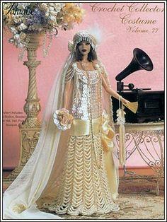 Barbie Crochet: 1926 Wedding Dress from Paradise Dolls - Pattern