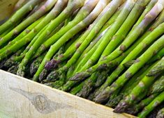 Great asparagus has a green shoot with a purple tip; you can harvest them after 3 years. Always cut down when harvesting asparagus shoots never pull them up you might damage the crowns. Canning Asparagus, Easy Asparagus Recipes, Gourmet Recipes, Healthy Recipes, Cleanse Your Liver, Beef Bone Broth, Beef Bones, High Fat Foods, Legumes
