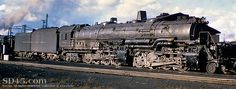 Baltimore and Ohio's EM1 Challenger type steam locomotive. This was located in Fairport Harbor, Ohio on April 11, 1952.