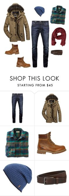 """Winter Look"" by arimacias on Polyvore featuring Jack & Jones, L.L.Bean, Timberland, Polo Ralph Lauren, HUGO, MANGO MAN, men's fashion y menswear"