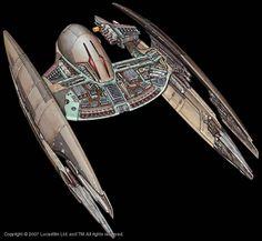 Droid Starfighter Cutaway