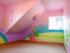 Princess Bedroom Wall Murals | Déco - enfants / kids | Pinterest ...