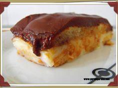 Tarta de crema con cobertura de chocolate fondant