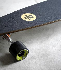 The brand have printed their logo on to this skateboards design, which links it back to the company and makes the skateboard look officially branded, therefore slightly more professional to view.
