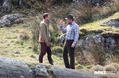 Charlie Hunnam speaks with director Guy Ritchie during filming for the upcoming movie 'Knights of the Round Table' in Capel Curig, Wales on April 17, 2015 in London, United Kingdom. (Photo by Radcliffe/Bauer-Griffin/GC Images)