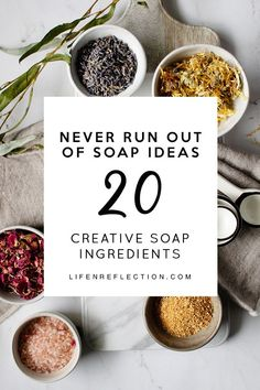 20 natural soap making ingredients to jump start your holiday crafting! 20 natural soap making ingredients, so you'll never run out of ideas for your natural soap recipes! Who says natural soap making has to be boring? Soap Making Recipes, Homemade Soap Recipes, Homemade Crafts, Homemade Soap Bars, Savon Soap, Diy Tumblr, Soap Making Supplies, Natural Beauty Tips, Diy Beauty