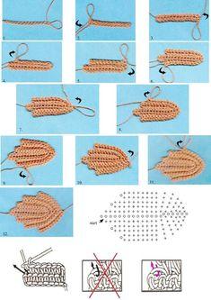 33 best ideas for crochet summer diagram ganchillo Crochet Leaf Patterns, Crochet Lace Edging, Crochet Leaves, Freeform Crochet, Crochet Diagram, Crochet Chart, Crochet Flowers, Crocheted Lace, Irish Crochet Tutorial