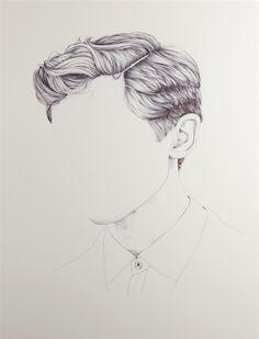 Henrietta Harris zeichnet Köpfe ohne Gesichter   KlonBlog