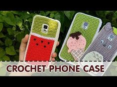 How to Crochet Owl Cell Phone Case - DIY Tutorial Tunisian Cross Stitch For iPhone Android Samsung - YouTube