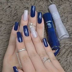 Perfect Nails, Gorgeous Nails, Stylish Nails, Trendy Nails, Dodger Nails, Hair And Nails, My Nails, Nagellack Design, Manicure E Pedicure