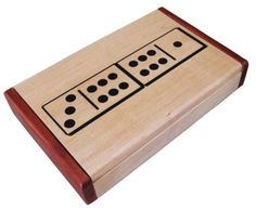 Donald 8 Domino-6 Set in Maple and Burlwood $24.95