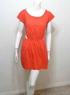 WOMEN-SILENCE-NOISE-Urban-Outfitters-coral-pleated-dress-size-M