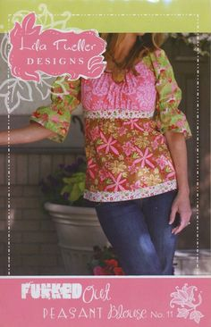 Lila Tueller Funked Out Peasant Blouse Pattern by JCooperArtistry,