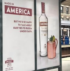 Who doesn't want a catchy, possibly viral advertisement for their company, right? Well, Smirnoff Vodka, a brand from the British Diageo company, certainly seems to have created one, but it comes at the expense of the President of the United States and his possible collusion with Russia. Just in c