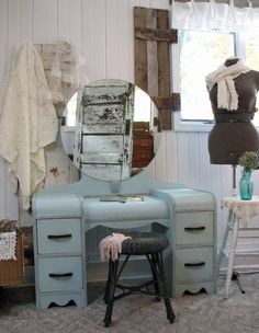 Need to find an old waterfall vanity to strip and stain to match my dresser and chest of drawers...