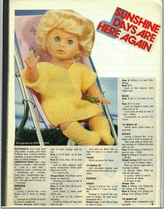 Sunshine Days are Here Again, pattern from Woman's Value, Septermber 1983.