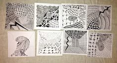 Teaching Zentangle - class with friends